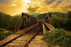 railroad bridge - lonely