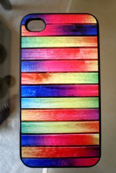 Neon Colorful wood Boards  iPhone 4 Hard Case for by DesigningLee, $13.99