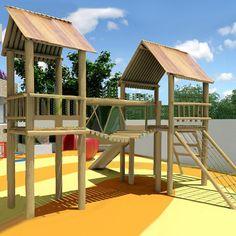 Casa Tarzan Dupla com Ponte | Animamix