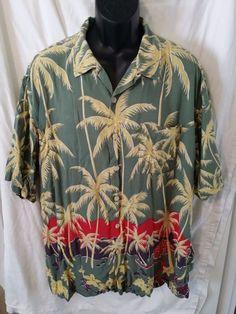 Polo Sport Ralph Lauren mens 2XL Short Sleeve Button Hawaiian Camp Shirt Rayon #PoloSportRalphLauren #ButtonFront