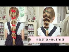 5 Easy School Hairstyles by SweetHearts Hair - YouTube