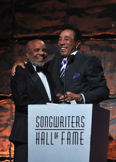 Berry Gordy And Smokey Robinson | GRAMMY.com - Saw him perform at the Toronto Jazz Festival - Amazing entertainer. Still sounds the same after all these years