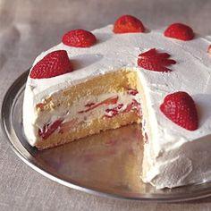Strawberry Génoise with Whipped Cream via Williams-Sonoma