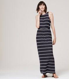 Loft ruched bodice maxi dress