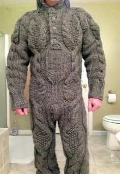 Challenge for a knitter the full body sweater...can we say let the itchy games begin?