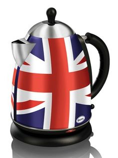 Union Jack Jug Kettle ~ Want this! Awwww how sweet; Britain's Got Talent, Union Flags, British Things, Uk Flag, British Invasion, British Isles, British Style, London England, Great Britain