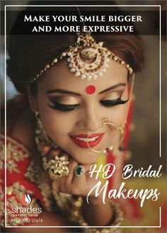 High Definition Bridal Makeups  are like a resolution in makeup world . Specially in Bridal Makeups HD quality enriches a bride's warm glow  and transforms her into an sculptural beauty ✨. Products , techniques  and applications are so refined and advanced ✨that every feature of your face becomes perfect and more expressive ❤. So you get the best sculptured look . Lock an HD look for your wedding day at Shades and enjoy your beautiful smile . #shadesbeautysalon #hdmakeup #h