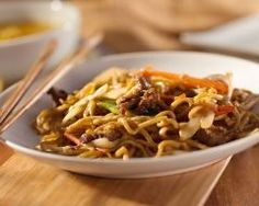 Pad thaï (Nouilles de riz sautées au poulet) (facile, rapide) - Une recette CuisineAZ