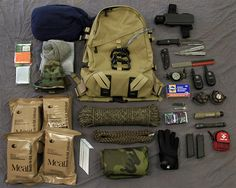 Bug Out Bag Spread!!