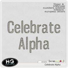 Celebrate alpha freebie from Happy Scrap Girl #scrapbook #digiscrap #scrapbooking #digifree #scrap