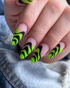 Neon Green Nails, Neon Nail Art, Neon Nails, 3d Nails, Rave Nails, Swag Nails, Neon Nail Designs, Acrylic Nail Designs, Nails Design