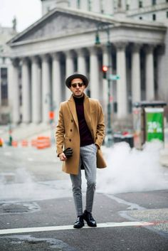 That hat! So glad structured hats are popular again in menswear!