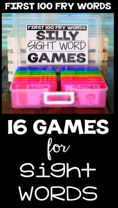 Teach Kindergartners fry sight words with these games and activities! Just print and practice for fun in your classroom today!