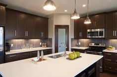 The Sorrento Kitchen – Trico Homes – Check out the new homes built by www.tricohomes.com #homebuilder #tricohomes #calgary