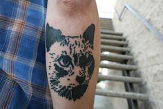 Cat Cult tattoo: Number 1. by David Flores ATC, via Flickr