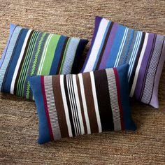 #frazada #alpaca #bright #pillow #stripes #azure #green #blue #violet #vibrant