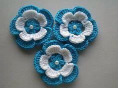 Luty Artes Crochet: Estas flores achei na web.Muito lindas ......