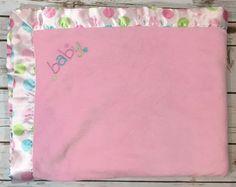 "NEW Baby Gap Pink Velour Sherpa Blanket NIP 30/"" x 40/"" White"