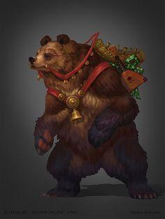 Bear, Dmitriy Barbashin  on ArtStation at https://www.artstation.com/artwork/bear-5a53e638-88f8-4a56-bfa0-af43e6252591
