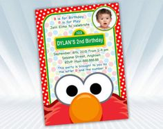 Elmo Birthday Water Bottle Label by DigiPartyShoppe on Etsy