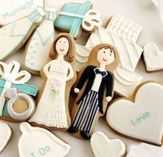 Wedding cookies! Great for a #candybar or as a present for the guests