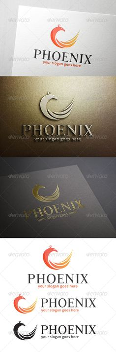 Phoenix Logo  #media #red #fly • Click here to download ! http://graphicriver.net/item/phoenix-logo/7093879?ref=pxcr