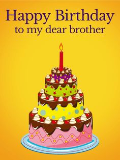 To my Coolest Brother Happy Birthday Card A fun vibrant birthday
