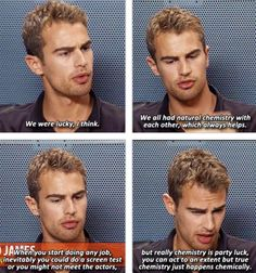 Divergent Movie. Theo James Interviewing about His and Shailene Woodley's Chemistry. #SDCC
