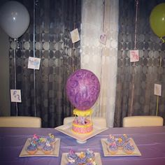 My Little Pony birthday   Twilight Sparkle Hot Air Balloon cake.