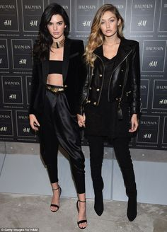 Kendall Jenner and Gigi Hadid at Balmain x H&M event