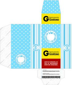 Light Blue Crown in Stripes and Polka Dots  Free Printable Boxes for a Quinceanera Party. Quinceanera Decorations, Quinceanera Party, Printable Box, Free Printables, Nail Polish Box, Dots Free, Box Invitations, Milk Box, Pillow Box