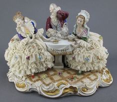 Porcelain colonial   10: Dresden Porcelain Colonial Figural Scene : Lot 10