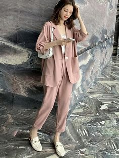 dd9a0586f9889 おしゃれセットアップ - Doresuwe.Com. #ファッション通販 #Fashion Doresuwe無地OL通勤アウター レディースファッション発表会 ...