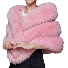 Women's Soft Long Faux Fox Fur Shawl Fur Fashion, Fashion Outfits, Fabulous Furs, Fox Fur Coat, Fashion Deals, Everything Pink, High Waisted Bikini Bottoms, American Apparel, Boyfriends