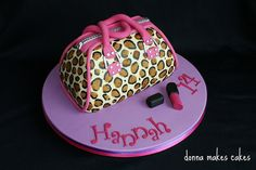 A well-executed leopard print bag from Donna Makes Cakes!