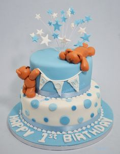 teddy bears 1 st birthday cake More