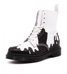 21079101 Pascal Paint Splat White/black from Dr. Martens