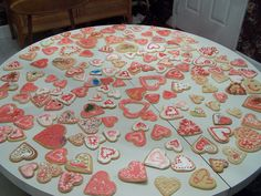 My Family and I make all kinds of Sugar Cookies, We have so much fun with Friends and Family and sharing with others. Enjoy the Pictures