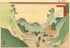 Yaji and Kita arrive at the mountain village of Okabe, the 21st station along the Tōkaidō.