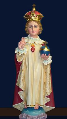 The Infant of Prague is displayed prominantely - He is lovely but it's one outfit only for him.