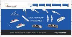 Xcodefix designed a website for windows and doors hardwares called Howzzat UPVC Hardwares.