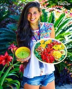 FullyRawKristina on Cinco de Mayo 2016 Raw Vegan Recipes, Healthy Recipes, Vegan Raw, Vegan Food, Healthy Food, Vegan For A Week, Dessert Aux Fruits, I Chef, Vegan Life