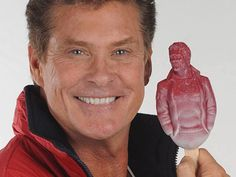 The Hoffsicle: a popsicle shaped like David Hasselhoff