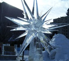 large star ice carving