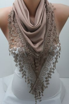 Hey, I found this really awesome Etsy listing at https://www.etsy.com/listing/128098692/beige-cotton-triangular-lace-shawl-scarf
