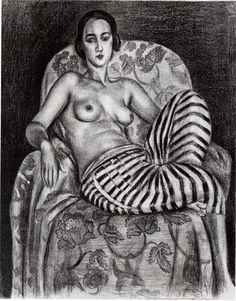 """Henri Matisse (French, """"Large Odalisque with Twill Pants,"""" [Pierre and Tana Matisse Foundation - © 2013 Succession H. Matisse/Artists Rights Society (ARS), New York Courtesy American Federation of Arts] Henri Matisse, Musée Matisse Nice, Matisse Drawing, Matisse Paintings, Matisse Art, Pablo Picasso, Matisse Pinturas, Tachisme, Post Impressionism"""