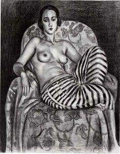 Henri Matisse - 1925, Grande Odalisque à la Culotte bayadère