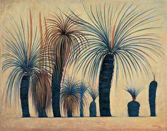 Grass trees illustration