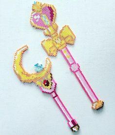 Sailor Moon perler beads by psychicmilk_designs Sailor Moon, Hama Beads Patterns, Beading Patterns, Motifs Perler, 3d Perler Bead, Nerd Crafts, Peler Beads, Beads Pictures, Iron Beads