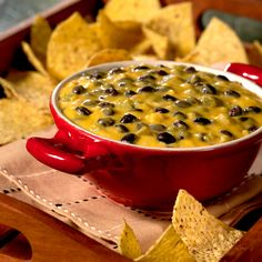 Black Bean Queso Dip - Serves 6  A quick, delicious cheese dip, that's great for entertaining.